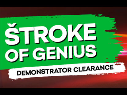 THE STROKE OF GENIUS - DEMONSTRATOR CLEARANCE