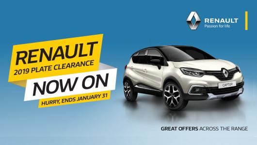 Renault Captur 2019 Plate Clearance