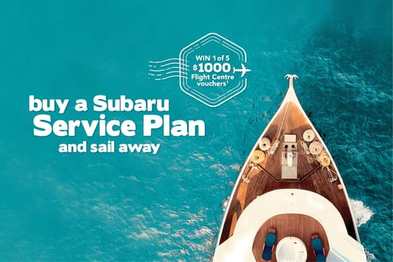 Buy a Subaru service plan and sail away