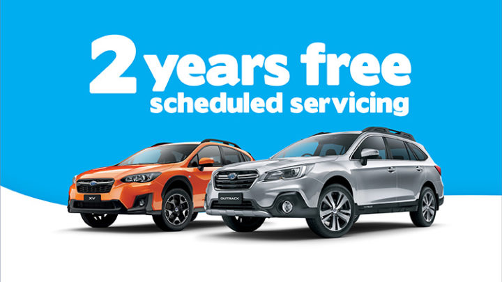 2 Years Scheduled Servicing free with Subaru XV and Outback models