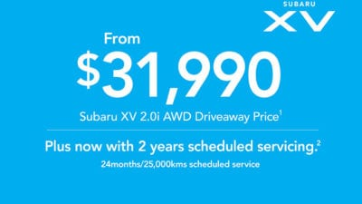 2019 Plate Clearance - XV 2 0i AWD
