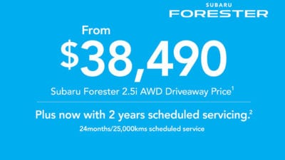 2019 Plate Clearance - Forester 2 5i AWD
