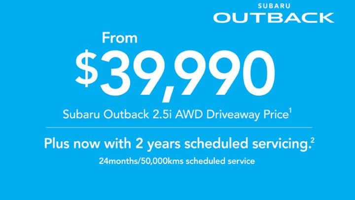 2019 Plate Clearance - Outback 2 5i AWD