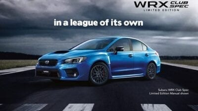 WRX Club Spec Limited Edition