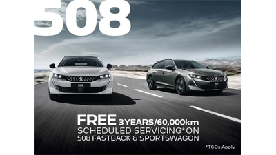 Peugeot 508 FREE SCHEDULED SERVICING