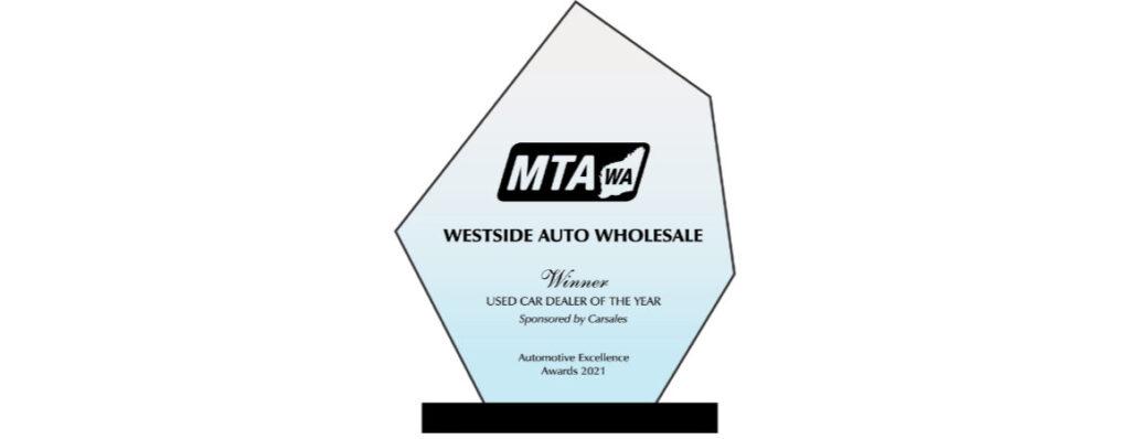 MTAWA Used Car Dealer of Year Winner Award 2021