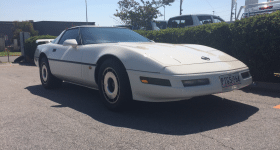 1985 White Corvette, Perth