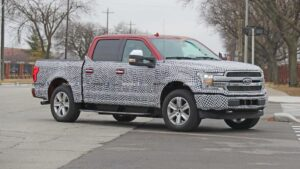 """alt=""""Ford F150 EV disguised styling"""">"""