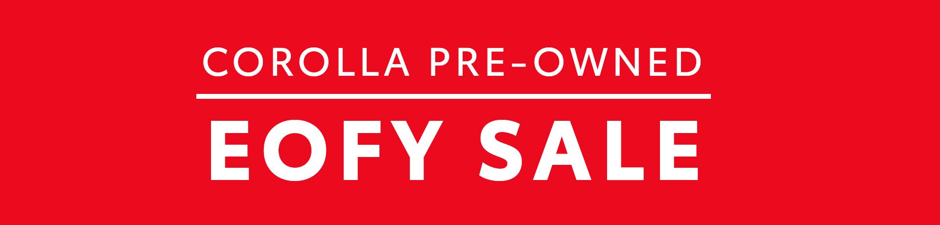 EOFY Corolla Sale Desktop Banner