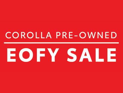EOFY Corolla Sale Mobile Banner
