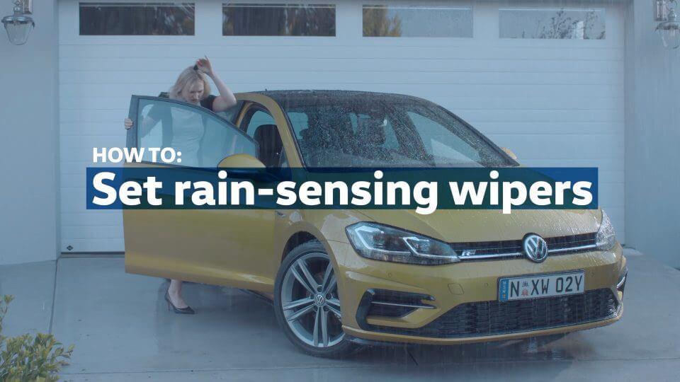 Set rain-sensing wipers
