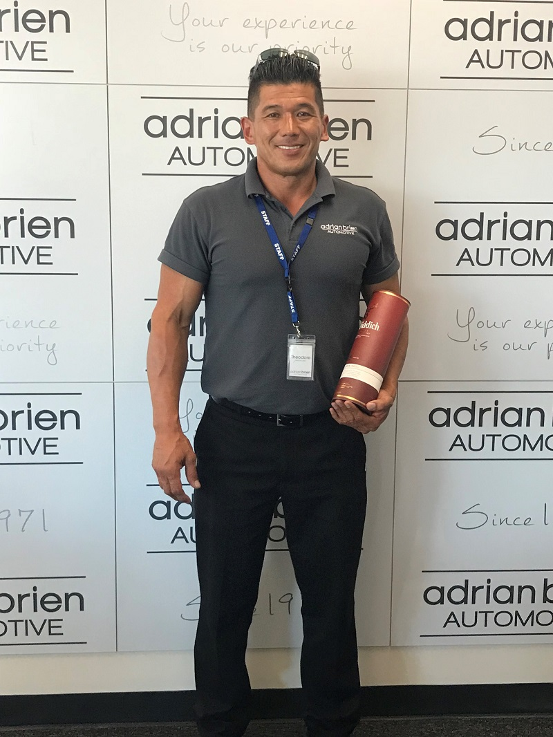 Theodore (Ted) Wnoroski - Highest Selling Used Car Salesperson Of The Year for the Adrian Brien Automotive Group.