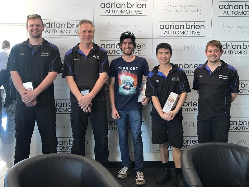 Casey Swearse, David Baulderstone, Travis Fuller, Steven Kwan and Paul Davis - Achieved Master Technician Status.