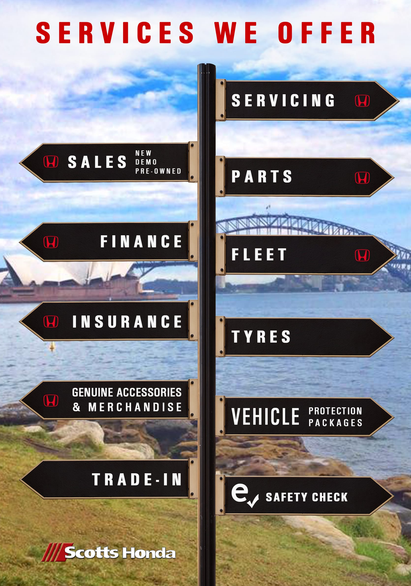 Services We Offer - Scotts Honda